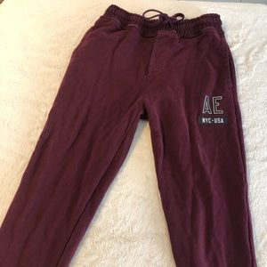 American Eagle Maroon Men's Sweatpants